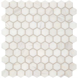 """Bianco Dolomiti: 1"""" Hexagon"""